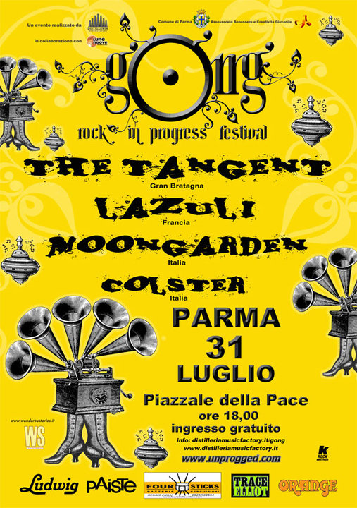VULGAR TOUR 2010 - Poster Live at Gong Festival (Parma, Italy)