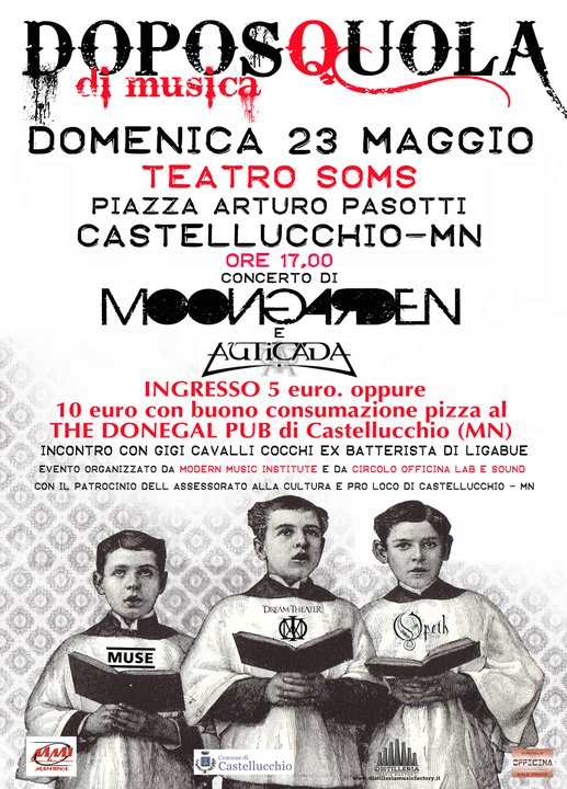 VULGAR TOUR 2010 - Poster Live at Teatro Soms (Mantova, italy)